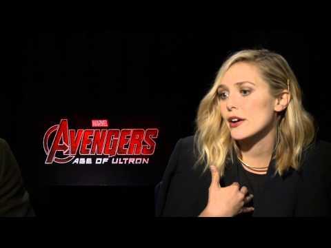 Marvel's Avengers: Age of Ultron: Aaron Taylor-Johnson & Elizabeth Olsen Official Interview