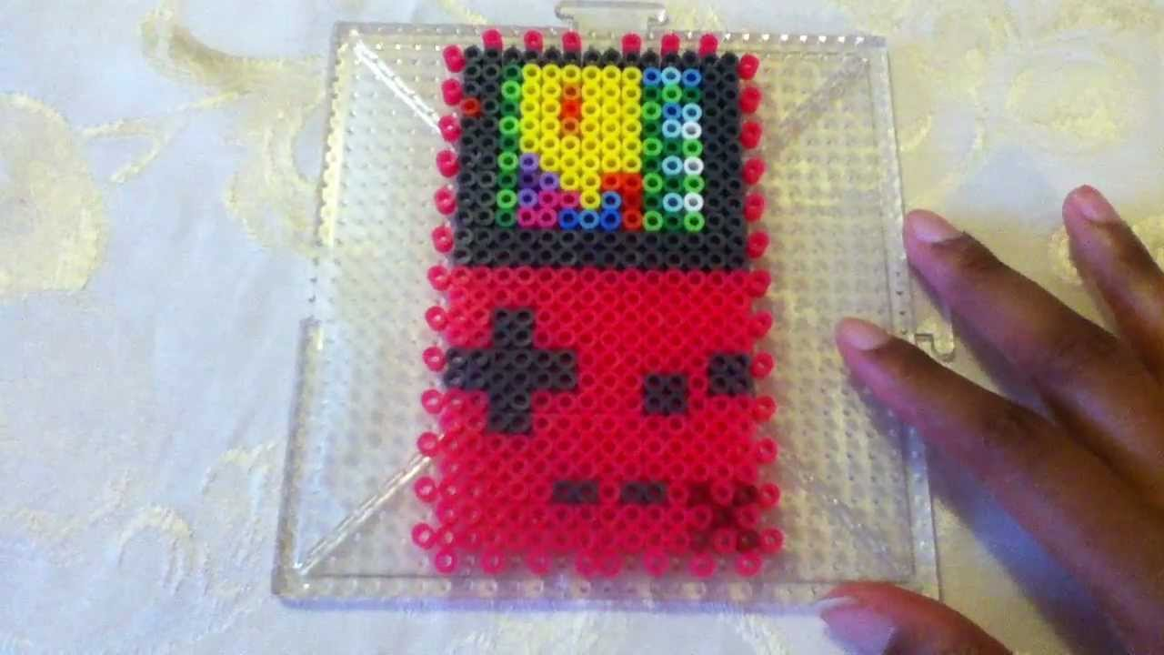 Color Bead Game 3d Perler Bead Gameboy Color