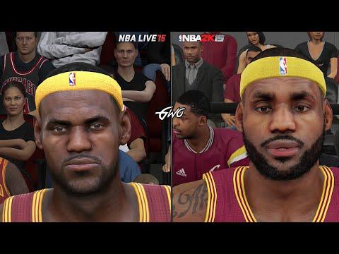 NBA 2K15 vs NBA LIVE 15 Graphics/Face Comparisons