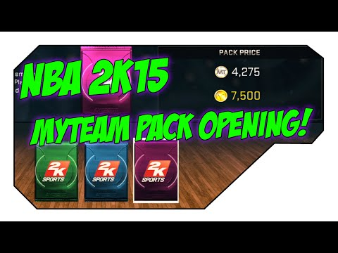 NBA 2k15 MyTeam 50,000 VC Pack Opening! CARMELO ANTHONY CARD!