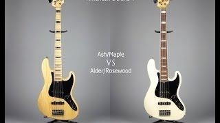 Ash/Maple VS Alder/Rosewood (Fender Jazz Bass Deluxe)