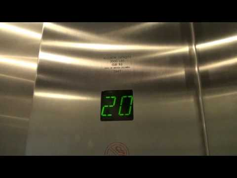 Otis Traction elevator at TD Canada Trust Tower (Bentall 4) *HD* Video