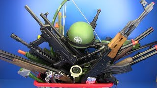 Box of Toys !!! Military & Police Guns Toys ! VIDEO FOR KIDS - What's in the box ?