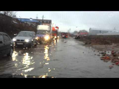Ленинский район после дождя. Москва.