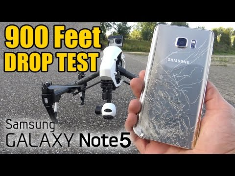 Samsung Galaxy Note 5 Drop Test - FROM 900 FEET!