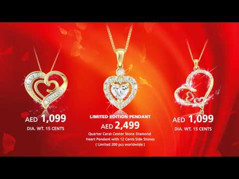 Pure Gold Jewellers Valentine Pendants 2013