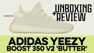 UNBOXING+REVIEW - Adidas Yeezy BOOST 350 V2 'Butter'