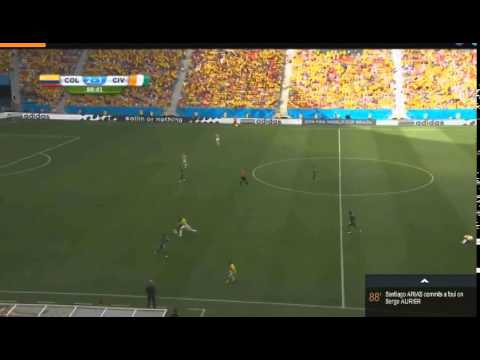 Colombia vs Ivory Coast 2 1 ~ Match Highlights and Goals ~ World Cup 2014