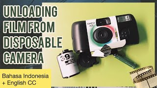 How to take out film from disposable camera (Bahasa Indonesia with english sub)