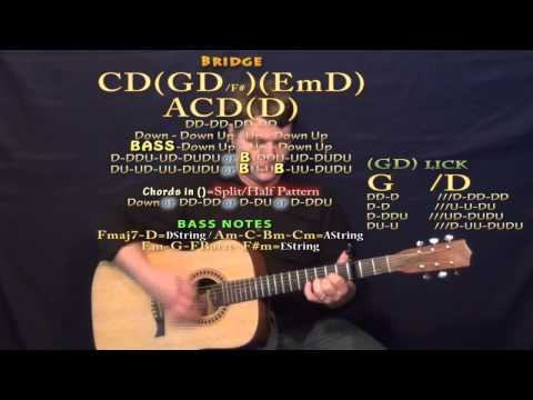 When I Was Your Man Chris Jamison Guitar Chord Chart Lesson Capo 3rd