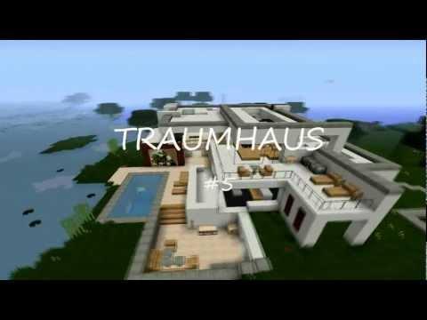 Minecraft modern house 5 modernes haus hd how to for Modern haus minecraft bauen