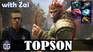 Topson - Monkey King MID | with Zai (Ogre Magi) | vs Ceb (TP) | Dota 2 Pro MMR Gameplay