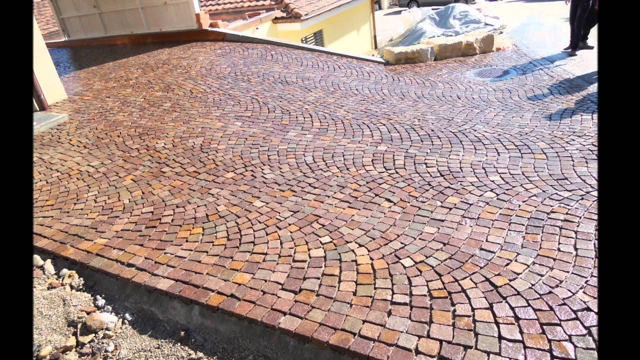 Plm pavimenti per esterni in pietra in sampietrini for Log casa disegni e prezzi