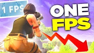 Can you WIN with 1 FPS on Fortnite Battle Royale?