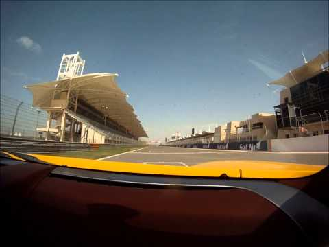 Shotgun in a Porsche Carrera GT around the Bahrain International Circuit