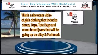 I am showing you some girls clothing going up on eBay and Poshmark