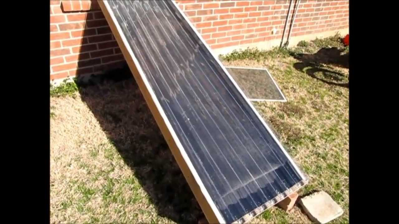 Free Heat How To Build A Solar Heater Window Unit Youtube