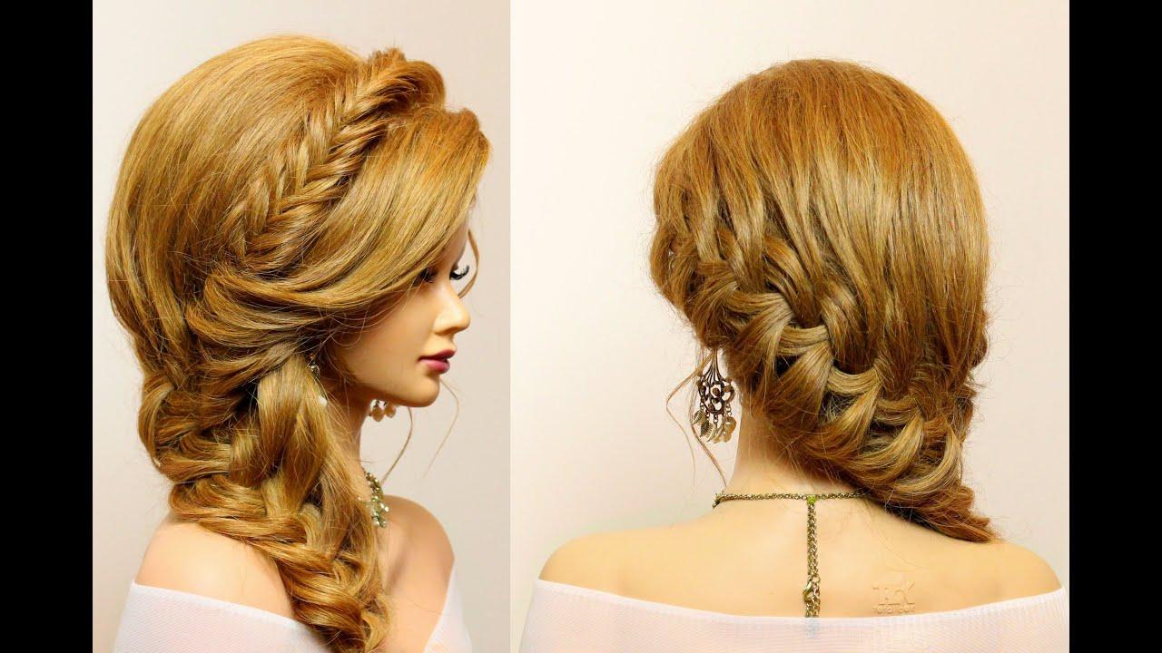 Прически на длинные волосы плетения фото