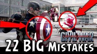 22 BIG MISTAKE | Captain America Civil War | Avengers Infinity Wars | Full HINDI Movie