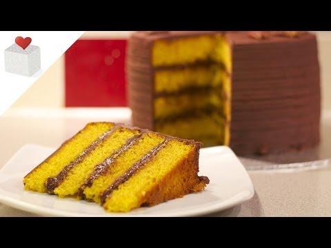 Layer Cake con Bizcocho de Calabaza | Recetas de tartas por Azúcar con Amor