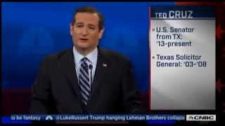 Ted Cruz Rants About Media Bias During CNBC Debate