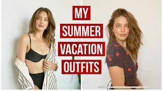 Vacation Pack Hack! Cute, Summer Vacation Outfits | Emily Didonato + Lotte Elisa Collins