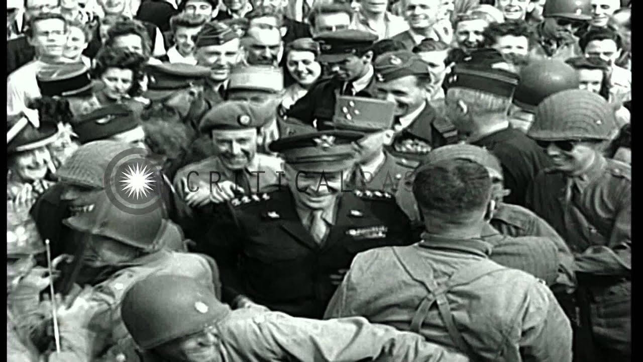 General Dwight Eisenhower in Paris during World War II. HD Stock ...