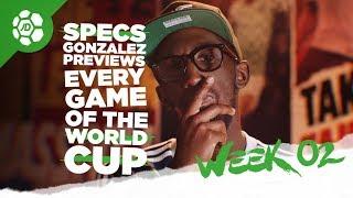 England Vs Panama, Brazil Vs Costa Rica, Germany Vs Sweden - World Cup Previews with Specs Gonzalez