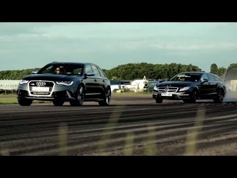 Audi RS6 v Mercedes CLS 63 AMG Shooting Brake: Super Wagons. - /CHRIS HARRIS ON CARS