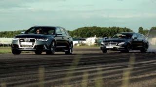Audi RS6 v Mercedes CLS 63 AMG Shooting Brake Super Wagons.  CHRIS HARRIS ON CARS