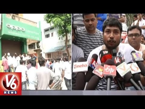 Thieves Rob Cellphones Worth Rs 7 Lakh From Mobile Shop In Armoor | Nizamabad | V6 News