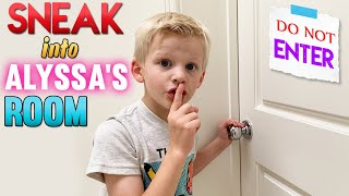 Sneaking into Alyssa's Room to Get Her SLIME!!