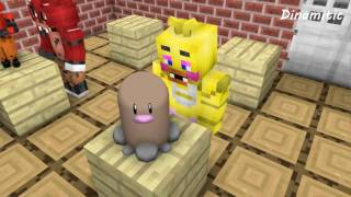 FNAF vs Mobs: Build Battle Create Pokemon Challenge - Monster School (Five Nights At Freddy