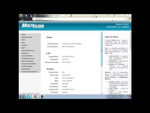 configuração 3G do roteador multilaser RE041