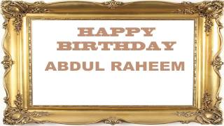 Abdul Raheem   Birthday Postcards & Postales