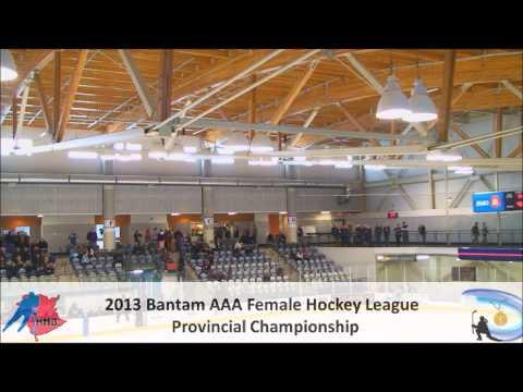 New Brunswick Female Bantam AAA Provincial Gold Medal Game 2013