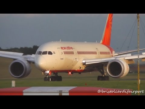 Air India Boeing 787 Dreamliner VT-ANH Landing & Takeoff at Birmingham Airport (BHX-EGBB)