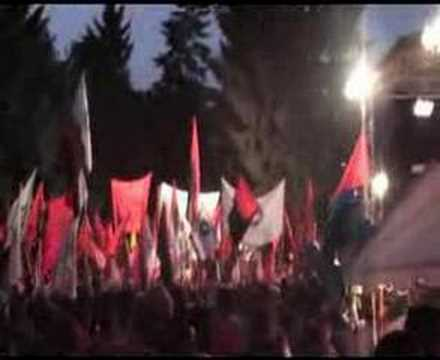 The Macedonian National Anthem sung when VMRO where in Prilep a few days before the election in 2006.