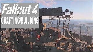 Fallout 4 Crafting Gameplay - Build your own settlement