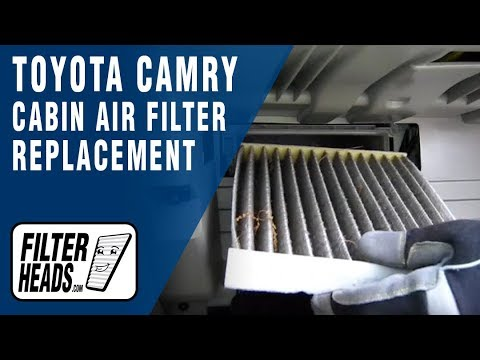 cabin air filter in a 2007 toyota camry how to save money and do it yourself. Black Bedroom Furniture Sets. Home Design Ideas