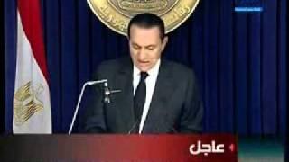 """شاهد.. أخر خطاب للرئيس السابق """"مبارك"""" قبل التنحي"""