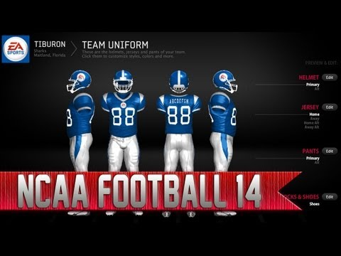 NCAA Football 14 Team Builder   How to Create Custom Uniforms