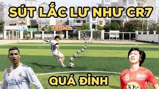 Thử Thách Bóng Đá Sút lắc lư như Ronaldo với Nguyễn Tuấn Anh U23 Việt Nam tương lai - Knuckleball