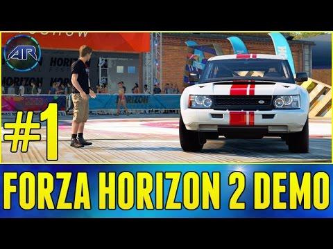 Lets Play : FORZA HORIZON 2 Demo BOWLER RALLY RACE Part 1
