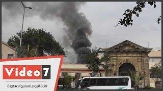 الحماية المدنية تسيطر على حريق كلية الفنون التطبيقية بحلوان