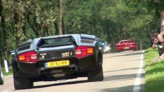 50 exotic cars accelerating LOUD!!