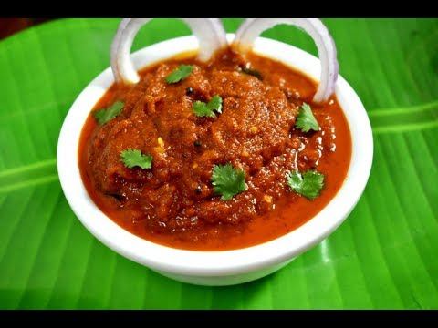 onion chutney recipe | chutney for dosa