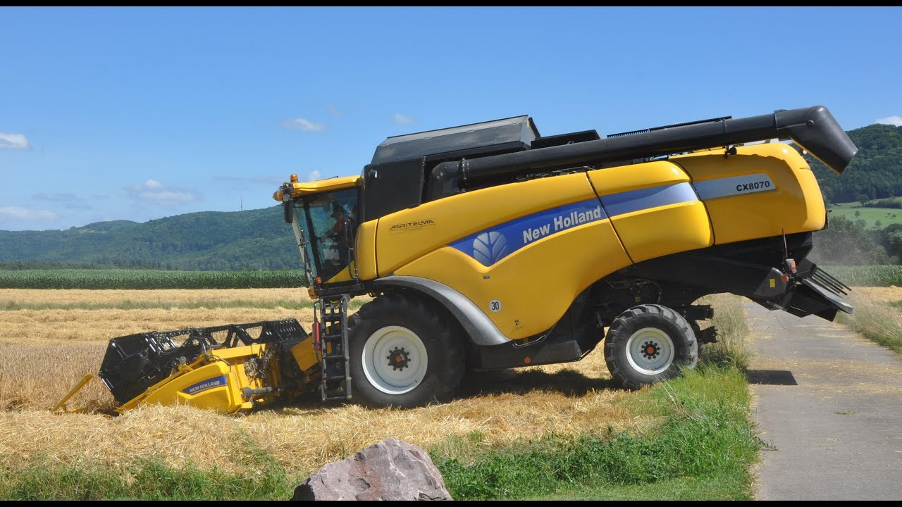 m hdrescher new holland cx 8070 bei der gerstenernte youtube