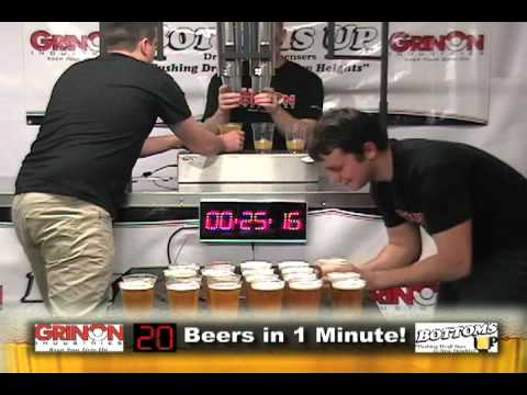 56 Beers Filled In One Minute