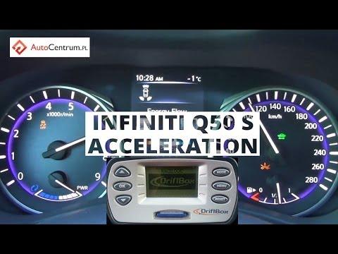 Infiniti Q50 S Hybrid 364PS AWD - acceleration 0-100, 60-100 - YouTube